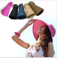 Wholesale Summer hat UV protection empty hat adult beach Collapsible hat fasion hats