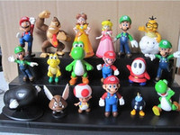 Retail 1 set Super Mario Bros yoshi Figure dinosaur toy 18PC...