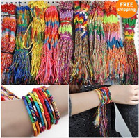 Wholesale 50PCS Bracelet Jewellery Mix Braid Friendship Cords Strands Bracelets Bulk B609