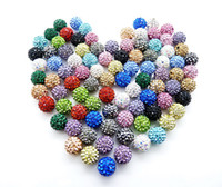 pave beads - s mm Crystal Pave Disco Ball shamballa Beads Mix color clay ball