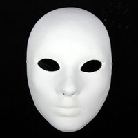 Bauta Mask adult face painting - Thicken Women Plain White Masks To Decorate Full Face Environmental Pulp Masks DIY Fine Art Painting Masks