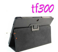 Wholesale 30pcs Folio PU Leather Case For ASUS Eee Pad Transformer TF300 TF300T Tablet PC Stand