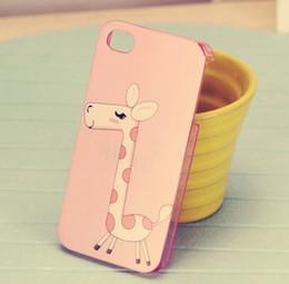 10pcs/lote Lindo Amoroso Corazón de Elefante Jirafa Caso Para el iPhone 4 4G 4S desde casos del corazón iphone 4s proveedores
