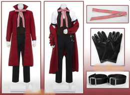 Wholesale Black Butler Grell Sutcliff Cosplay Glove Belt Red cm Wig Custome Made
