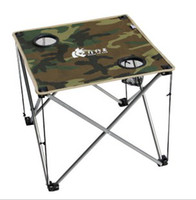Wholesale Camouflage folding table small one used on beach outdoors BBQ when fishing camping beach chair STY7