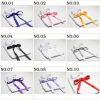 Wholesale tie knots bow tie men s ties self tie ascot cravat men s bowties solid color bow ties neck ties