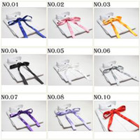 Wholesale tie knots bow tie men s ties self tie ascot cravat men s bowties solid color bow ties neck ties