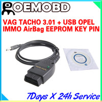 Car Diagnostic Cables and Connectors airbag - Vag Tacho For VW Audi USB Immo Airbag Reader For Opel OBD2 Airbag Scanner