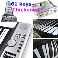 Wholesale Soft Electronic Keyboard Piano Musical Instruments Sold Keys thickened Flexible Roll Up