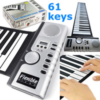 Wholesale Lighter and convenient Keys Flexible Roll Up Soft Electronic Keyboard Piano Musical Instruments