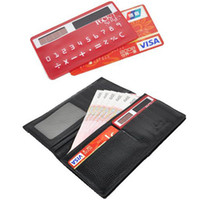 Wholesale caculator thin Slim Wallet Pocket card Calculator Digit Mini Solar Power Card