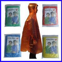 Wholesale 200 Disposable Raincoat Rainwear One Time Use Poncho Travel Rain Coat Rain Wear