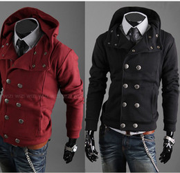 Wholesale 2012 men s hooded sweaters double breasted cardigan sweatershirts colors