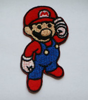 Wholesale Cheap Dropship Wholesale - Super Mario Patch Embroidery Iron on Patch Cheap Badge Applique wholesaler dropship