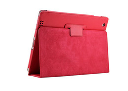 Wholesale 10 colors Magnetic Auto Sleep Wake UP function leather case protector for ipad ipad