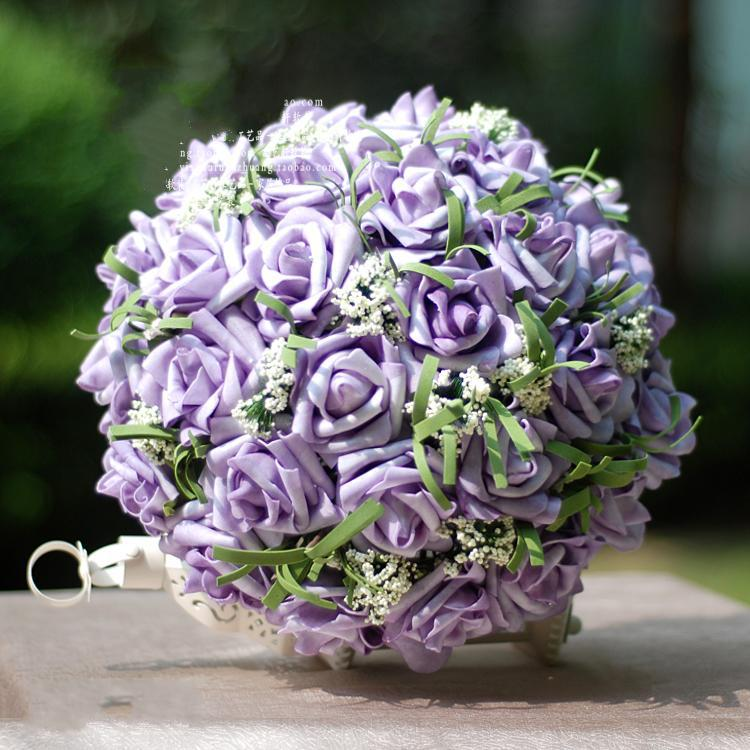 Image Light Purple Roses Wedding Bouquets Download