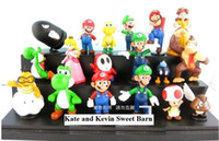 Wholesale Super Mario Bros yoshi Figure dinosaurand roid watchtoys Figure play set