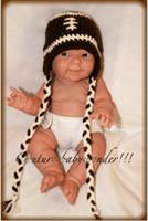 Unisex baby football hat - Baby Boy crochet Football Hat Children s Caps Toddler Boy Newborn Handmade Crochet Hat Choose Your Size Free Shiping