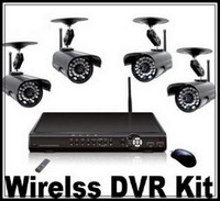 Wholesale Wireless DVR with ch wireless signal input and ch wired signal input IR cctv cameras Network