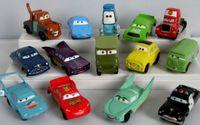 Big Kids big plastic containers - Mini cute Pixar Cars figure FULL SET New PVC Lightning McQueen Children toy