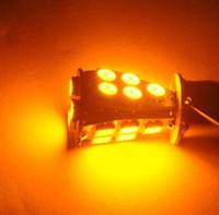 Wholesale 1156 Ba15s SMD LED CANBUS Car Turn Tail Light Bulb Yellow Amber No Error