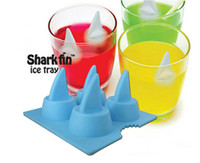 Wholesale Shark Fin Ice Cube Silicone Ice Cube Maker Tray Jelly Mold Chocolat Mould Cool Bar Party Gadgets