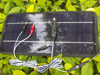 Wholesale best price V System W Portable Solar Panel Car Boat Motorcycle Motor Vehicle Charger