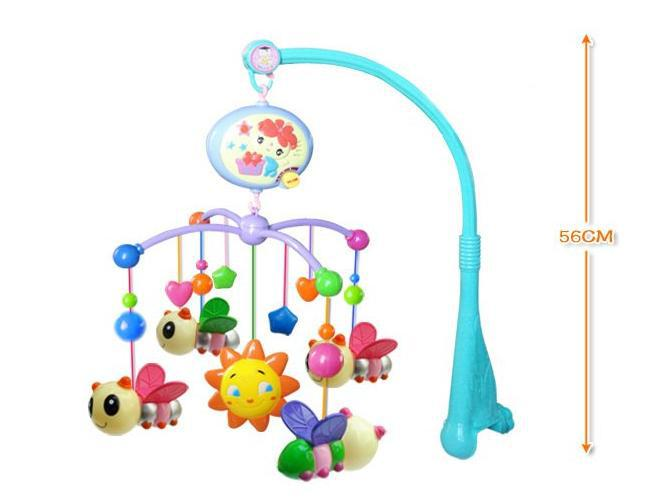 Today 39 s special baby toys rattle colorful baby toy bee for Baby shapes mobile