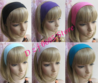 Wholesale Stretch Headband Sports Sweat Head Wrap Unisex good Stretch moq TD