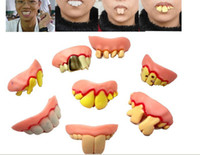 Wholesale 160pcs funny teeth set Prank toy Halloween party supply