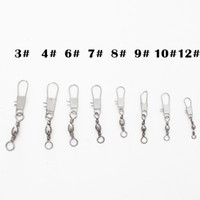 Wholesale 1000pcs Fishing tackle Barrel Swivel With Interlock Snap combine size