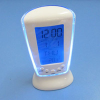 Wholesale Digital LED Square Alarm Clock Calenar Thermometer with Blue LED Backlight FK X