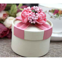 Wholesale Circle Pink Candy Boxes Wedding Candy Boxes Favor Box Gift