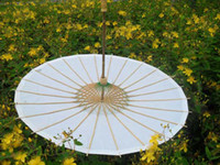handmade craft - Paper Parasols Wedding Parasol Bridal Accessories Handmade Diameter inches Solid White Paper Umbrellas Chinese Craft Straight Sunshade