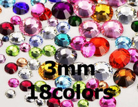 Wholesale 9000pcs DIY Flatback Faceted Bling Rhinestone Crystal Scrapbooking Gel Nail Phone Craft Decoration