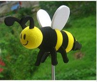 Wholesale Hot New Car Antennas Car Exterior Happy Honey Bumble Bee Car Aerial Ball Antenna Topper