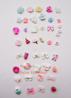Wholesale Over styles Nail Decoration Clay Nail Accessory Plastic Carton Nail Stickers for Nail Art