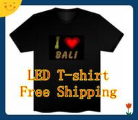 Wholesale 48pcs el led t SHIRT flashing T shirt CHRISTMAS FESTIVAL GIFT SOUND ACTIVATED DJ DISCO DANCING