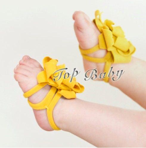 Overstock Low Price TOP BABY Sandals Baby Barefoot Sandals Flower ...