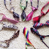 Wholesale Factory Sale New Pet Elastic Neckties Tie Bow Pet Tie Dog Pet Clothes Cat Dog Ties BOWS TIES Collars