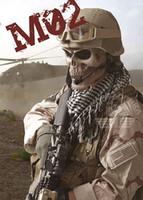 Soldados EMS envío libre Máscara Soldados máscara de la muerte del hueso del cráneo de Airsoft de la cara llena Máscara de seguridad Proteja
