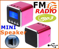 Wholesale Digital portable Speaker Mini Speaker MP3 Player USB Disk Micro SD TF Card FM Radio Line In Out sou