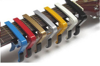 Wholesale Multi color Quick Change Curved Trigger Capo Acoustic amp Electric Guitars