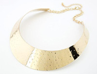 Wholesale Necklaces Star Golden Exaggerated Punk Wind Metal Necklace