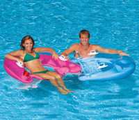 Wholesale 58859 INTEX sit type floats a row Water floating bed with pillow inflatable floating row