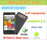 Wholesale New MTK6573 Zero HD7 H7300 quot Android Capacitive Cell Phone G WCDMA GPS WIFI Dual Sim