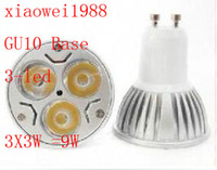 Hot sell 50pcs lot GU10 3X3W 9W LED lamp spotlight LED bulbs...