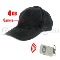 Wholesale Hideen cam camera GB Memory Hat Spy Camera Digital Video Recorder Camcorder Remote Controller