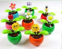Wholesale solar toy swing flower Solar Dancing Flower Flip Flap solar flower solar dancing flowers