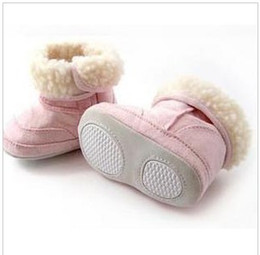 Wholesale 5pcs Thicker high infant shoes   infant snow boots   cotton boots Pink